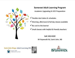GED and Academic Upgrading Classes--Saint John