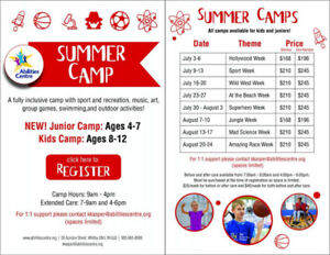 Abilities Centre Summer Camps