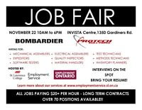 JOB FAIR - BOMBARDIER & PROTECH SOLUTIONS