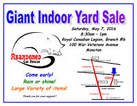 ABANDONED CAT RESCUE INDOOR YARD SALE