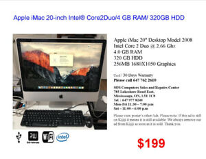 Apple iMac's for Sales (Price..............$199 to $999)