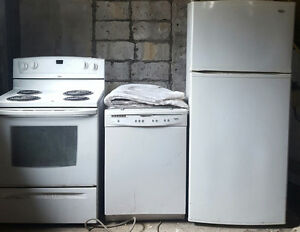 Inglis Fridge+Dishwasher+Whirlpool Stove