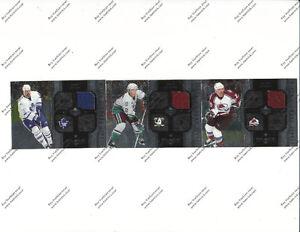 3 Jersey Hockey Cards