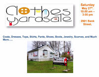 Yard Sale - Many used and new items, clothes, dresses, shoes....