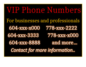 Vanity VIP phone numbers for businesses