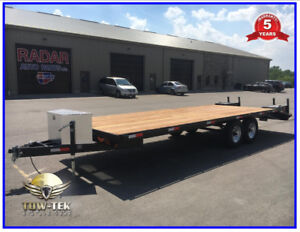 2019 - 24' Equipment hauler, flat bed,Deck over, 5 year warranty