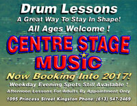 Drum Lessons At Centre Stage Music.