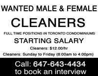 ✦ INTERVIEW TOMORROW: FULL-TIME CONDOMINIUM CLEANING JOBS! ✦