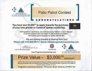 won in a contest $3000 worth of granite counter top London Ontario image 1