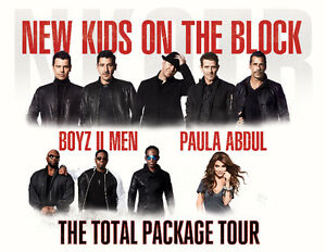 The Total Package Tour: NKOTB with Paula Abdul and Boyz II Men London Ontario image 1