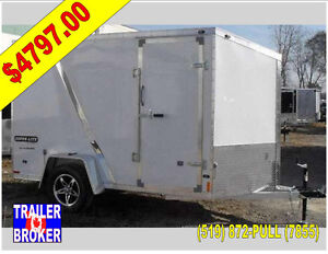 2017 6' X 10' Single Axle Flat Top Enclosed All Aluminum