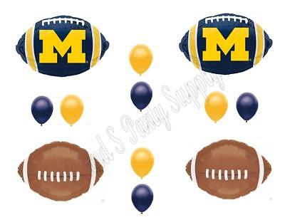 College Party Decorations (MICHIGAN Football Game Day Birthday Party Balloons Decorations Supplies)