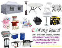 Folding Chairs....Folding Tables....Tents !!! Rent