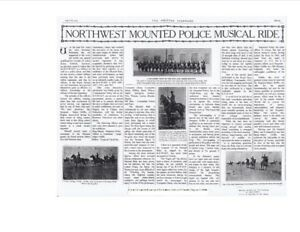 1914 - History and Birth of NWMP / RCMP Musical Ride - Newspaper