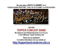 Looking for Concert Band Alto Saxes, Trumpeters, Drummer