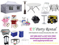 CHAIRS & TABLES  RENTAL