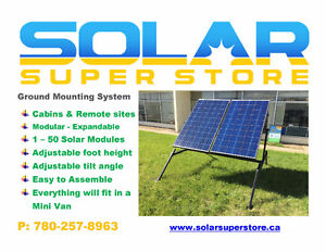 Cabin Solar Panel Ground Mount for Remote Power