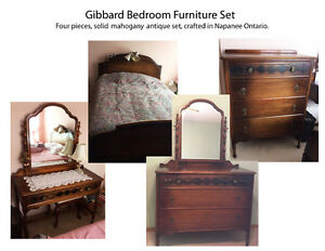 Gibbard solid wallnut, antique bedroom set