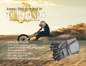 Knuckle Duster Motorcycle Gloves by WATSON