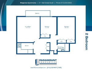 2 Bedroom Aprt. Available May 1st to August 31st