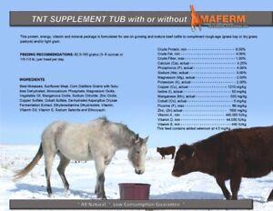 TNT Livestock Supplement Lick Tubs