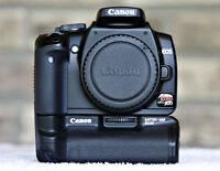 canon EOS rebel XTI dslr body with original canon grip
