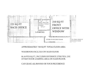 For Lease - Top Floor Space in Commercial Warehouse
