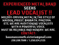 WANTED: HEAVY-METAL LEAD SINGER