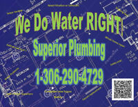 SUPERIOR PLUMBING.  your dependable plumber