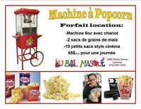 **** Location de machine à Popcprn ****