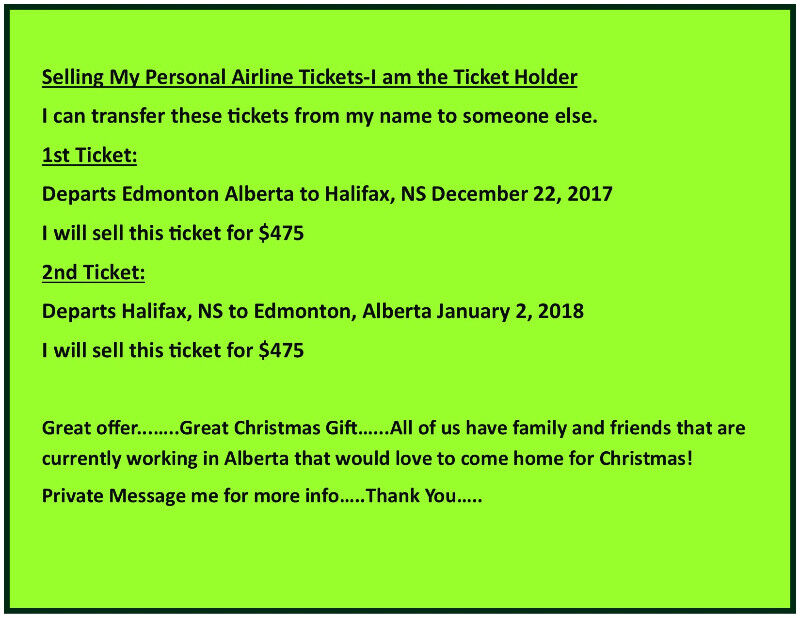 WestJet Tickets for Sale-I am the ticket holder | Tickets | City ...