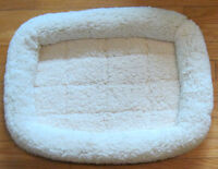 Used dog/cat pet bed soft fleece style covered cushion