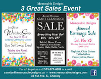 3 Big Sales Event in Chesley