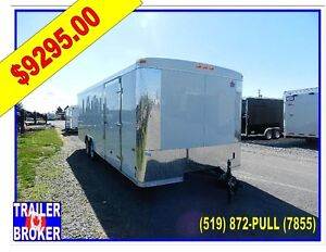 2017 8' X 24' Tandem Axle Enclosed Steel Frame Car Hauler