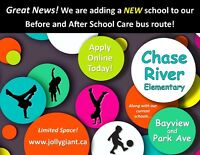 Great news for Chase River Elementary Families!