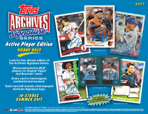 2017 Topps Signature Series Baseball Available Wednesday
