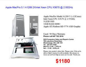 Apple MacPro Model A1186/A1289 5,1/4,1/3,1/1,1 (4, 8 & 12 Cores)