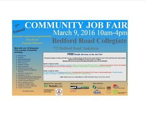 JOB FAIR MARCH 9 - LOTS OF EMPLOYERS