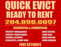 Quick Evict Ready To Rent 204-890-0097