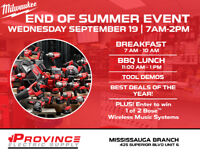 Milwaukee Tools End of Summer Event at Province Electric Supply