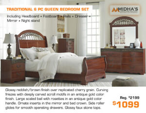 All Brand Names Bedroom Sets on floor Now up to 50% OFF!