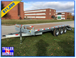 20' Tri-Axle Trailer,21,000lb Axles,Galvanized,pressure treated
