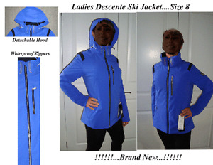Ladies Descente Ski Jacket Size 8 NEW