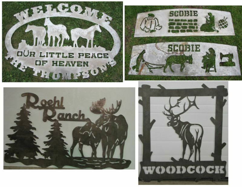 Custom Cnc Plasma Metal Signs Amp Metal Art Silhouette