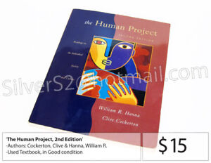 TEXTBOOK: 'The Human Project, 2nd Edition (William R. Hanna)