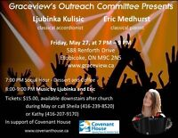 Classical Music Concert In Support of Covenant House - May 27th