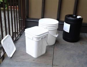 PAILS- WATER JUGS- CAMPING- HOUSE HOLD