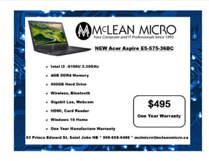 New Acer Aspire Laptop with Warranty