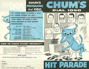 Buying CHUM HIT PARADE CHARTS from radio station 1050 CHUM