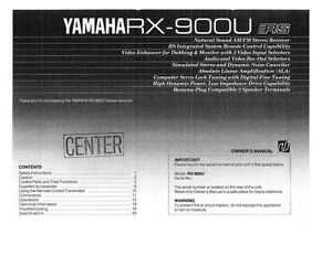 Yamaha rx 900 car interior design for Yamaha rx v1600 manual